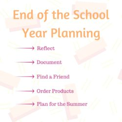 End of the School Year Planning
